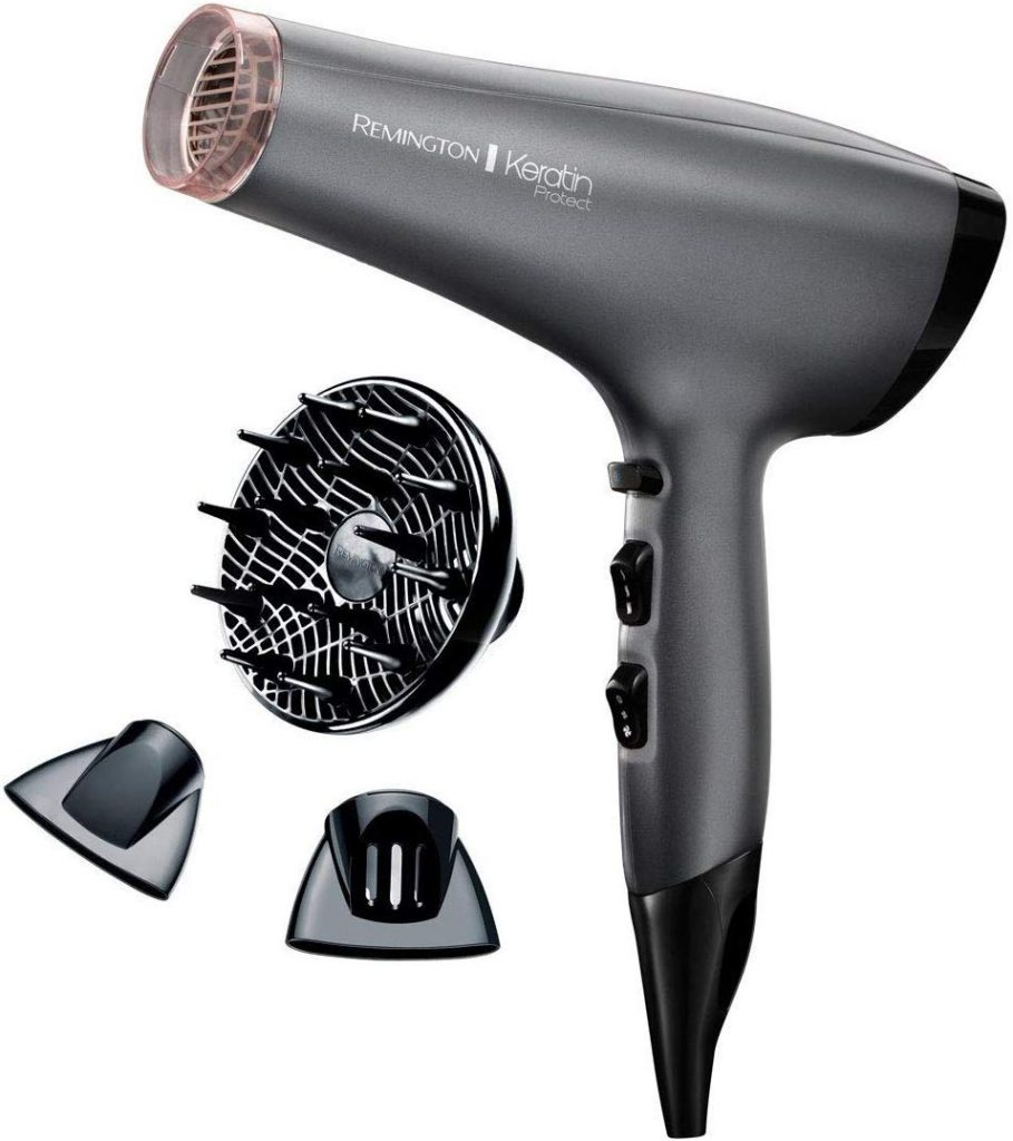 image of the remington keratin with diffuser and 2 nozzles we are reviewing