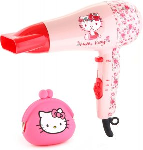 image of the hello kitty dryer and accompanying purse