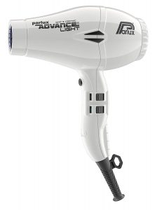 Image of the white Parlux Advance Light hair dryer
